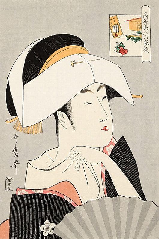 喜多川歌麿「高名美人六歌撰 富本豊雛」