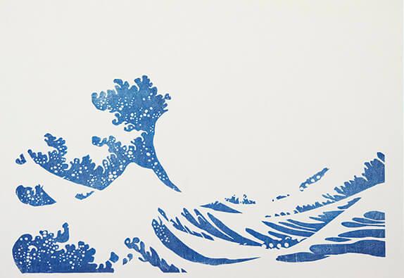 藍色を摺る