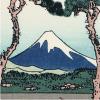 松並木を額縁にした富士を見上げて、よっこらどっこいしょ。