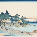 おや珍しい、北斎さんの描いた江ノ島は誇張なし!