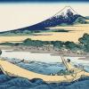 涼感たっぷり、北斎さんの描く波と富士