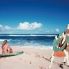 写楽の描いた二人が、ハワイの海に!?