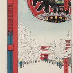 暑い時には熱いもの、雪降りの日は雪景色の浮世絵を