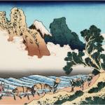 身延川を階段のように描いた北斎さんの思いを推理